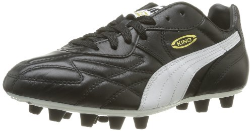 Puma King Top Ifg - Chaussures de Football - Homme - Noir (Black-white-team Gold 01) - 43 EU (9 UK)