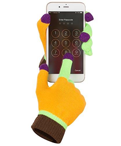 Fosmon Unisex Touchscreen-Winterhandschuhe, mit 3leitfähigen Fingerspitzen für den Einsatz mit-Smartphones, Tablets, eReader, Kiosk, ATM, Digitale Kameras, Videokameras, Spielsysteme, GPS, MP3, Navi (passend für die meisten Größen S & M Hand-21)