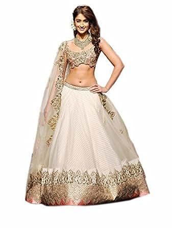 FabTexo Women's Net Princess Cut Western Dress (Zoya_Blue_Free Size)