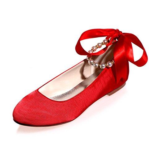 Les Chaussures De Mariage Des Femmes De L @ Yc Font Ressortir L'automne Et Le Mariage D'automne Avec De Grands Jardins Rouges