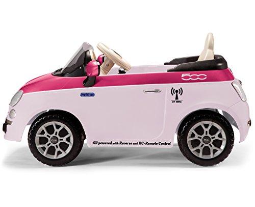 Peg Perego Fiat 500 6 V con Radiocomando, Rosa e Fucsia