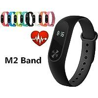 Fenghong Pulsera Inteligente M2 Smart Wristband Sport Muñequera Bluetooth Pulsera Moda portátil OLED Display Fitness Rastreador