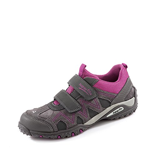 Superfit SPORT4 700224, Mädchen Sneakers, Blau (WATER KOMBI 88) Grau Kombi
