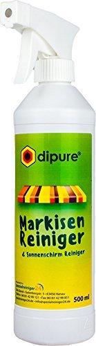 dipure® Markisen-Reiniger 500ml (Sonnenschirm Reiniger) | Entfernt Vogelkot, Flechten, Fett und Öl von Stoff, Textil und Markise