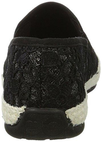 Desigual Damen Taormina White Lace Sneaker Schwarz (Negro)