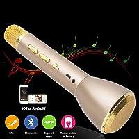 Baiye Portable microphone Bluetooth Wireless, karaoke microphone Bluetooth speaker, microphone speaker children Wireless Microphone Karaoke Mic for smartphones