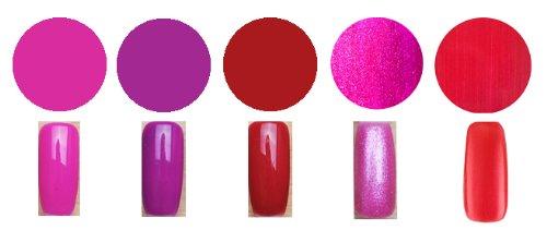 Gel Polish Lot de 5 vernis à ongles professionnels en gel UV soak off Collection Temptation 2
