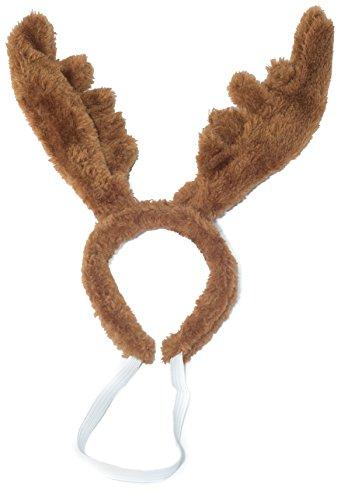 Weihnachtsgeweih Elch Geweih Haarreif Weihnachtsmütze Nikolausmütze für den Hund Katze Braun (Hund Weihnachtsmütze)