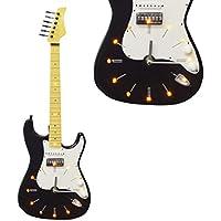 Maison des Cadeaux - Reloj de Pared para Guitarra eléctrica, LED, Color Blanco y
