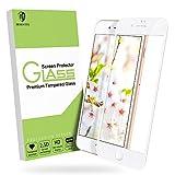 MORNTTE [Weiß] panzerglas schutzfolie für iPhone 6/ iPhone 6s panzerglas iPhone 7/iPhone 8 [HD Displayschutzfolie] [9H Härte] [Anti-Öl] [Anti-Kratzen] [Anti-Bläschen] Screen Protector Glas [4.7 Zoll]