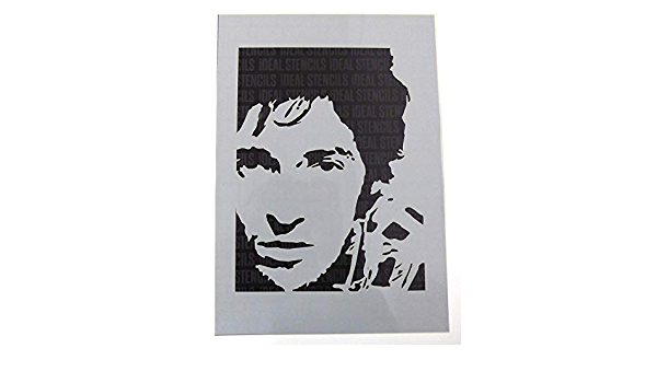 Springsteen Bruce Portrait Pochoir Peinture Pochoir pour Art Artisanat et D/écoration Peinture Design sur Murs Tissu Meubles R/éutilisable Pochoir Fabriqu/é de Lavable Plastique
