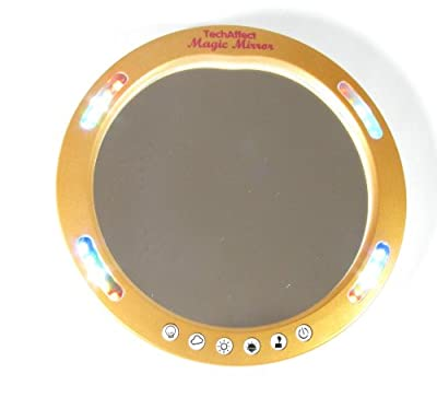 Makeup Mirror - Compact Magnifying Mirror with LED lights ideal for ladies handbag or dressing table Colour Burnished Gold - low-cost UK dressing table store.