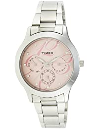 Timex E-Class Analog Pink Dial Women's Watch-TI000Q80100