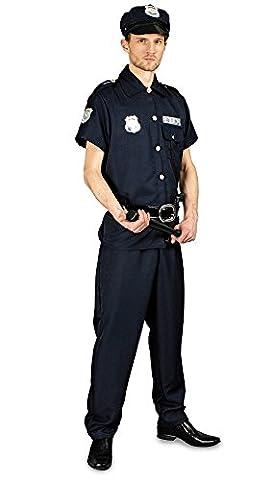 Special Police Kostüm für Herren - Polizisten Uniform Verkleidung für Erwachsene - Gr. 46 48