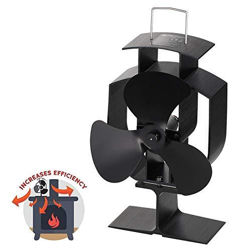 Calor Powered Horno Ventilador para Madera/Leña Burner, 3 Aspas,Funcionamiento silencioso