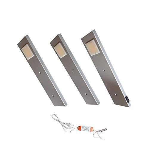ACCE LED Unterbauleuchte Küchen Möbel Leuchte Warmweiß inkl Konverter ein Strahler mit Schalter Energieeffizienzklasse A++ (3er Set)