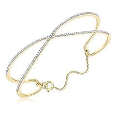 Idea Regalo - Carissima Gold Bracciale da Donna, in Oro Giallo 9K (375), con Diamante