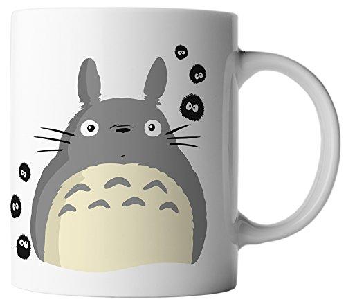 vanVerden Tasse Anime Rußmännchen Manga Cosplay Mein Nachbar Totoro plus Geschenkkarte, Farbe:Weiß/Bunt