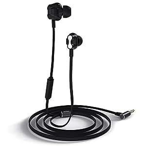 August EP520 – Auricolari Dual Driver con Microfono e Comandi Audio – Funzione Vivavoce e Microfono per Controllo Vocale – Compatibilità Universale