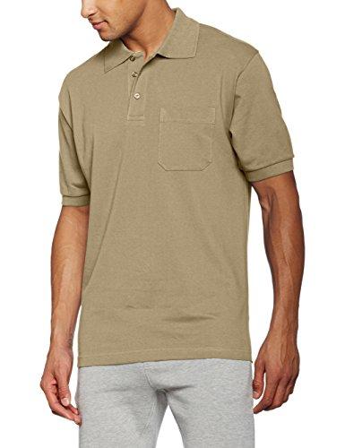 James & Nicholson Herren Poloshirt Polo Pocket, Grün (Khaki), XX-Large (Polo-shirt Pocket Pique)