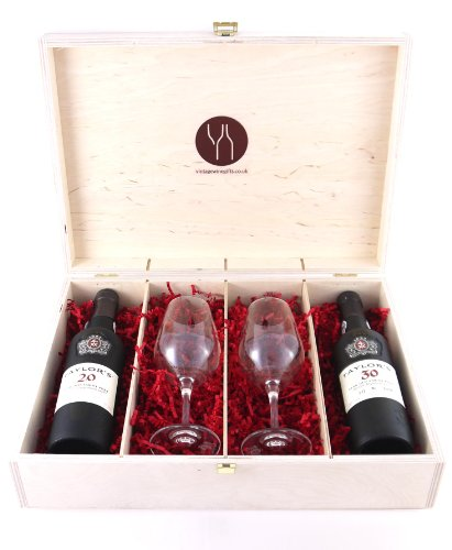 Taylors-50-years-of-Port-375-cl-and-two-Taylors-Port-Glasses-presented-in-a-wooden-box-Luxury-Retirement-Corporate-Thank-You-Wedding-Anniversary-Gifts-50th-Birthday-Presents-for-Him-Men-Dad-Husband-So