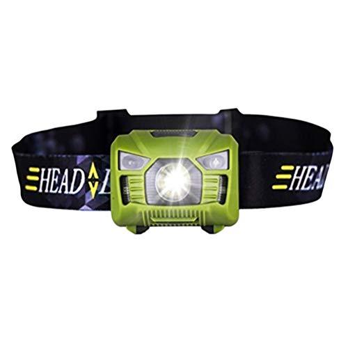 Vosarea USB-wiederaufladbare LED-Scheinwerferlampe Ultra Lightweight Comfortable Bright Bright Headbrenner ideal für Laufen, Camping, Wandern, Wandern, Angeln, Lesen, Radfahren