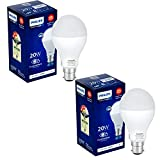 Philips Stellar Bright 20-Watt Round LED Bulb (Pack of 2, Cool Day Light/Crystal White)