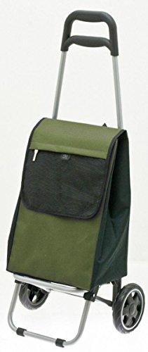 SECC Einkaufswagen - Einkauftstrolley - Einkaufsroller - Alu-Gestell - Volumen: 23 Liter - 2 kg (grün)