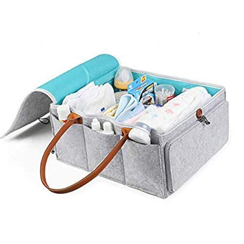 Fayeille Baby-Wickeltasche/Wickeltasche mit abnehmbaren Griffen und Abdeckung, für Babytücher und Kinder, tragbarer Auto-Reisekorb