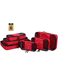 Mesh Travel Packing Cubes - Organising Luggage, suitcases, Bags for Backpacking - (Free Padlock) - Large, Medium, Small and Slim with Zip by Kipp and Klum