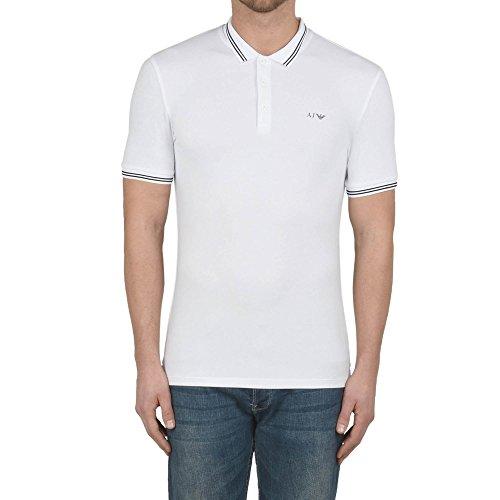 Armani Jeans Herren Poloshirt 8n6f306jptz Bianco
