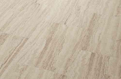 Cortex Vinatura Steindesign 0,3 Essence : Gesunder und umweltfreundlicher Vinyl-Designbelag : Travertin V11101 - Vinyl-Kork-Fertigparkett, Korkparkett, Vinyl-Laminat-Fußbodenbelag zum klicken, Paket a 2,136m² Fliesen- und Steindekor