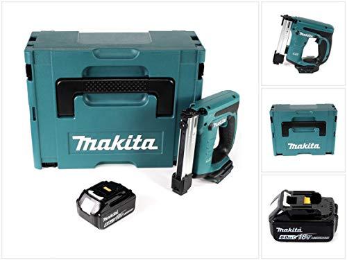 Makita DST 221 G1J 18 V Li-ion Akku Tacker im Makpac + 1x BL1860 B 6,0 Ah Li-Ion Akku - ohne Ladegerät