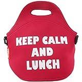Bergner Keep calm - Bolsa de almuerzo, 30 x 30 x 17 cm