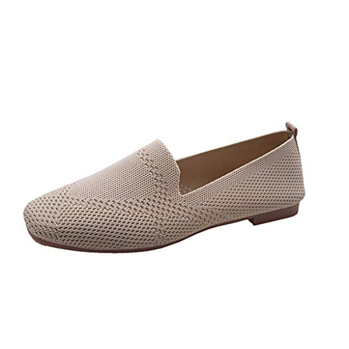 DOLDOA Damen Schuhe Wasserschuhe Frauen Slip On Loafers Breathable Flats und Fishion Lady Casual Schuhe (38 EU, Schwarz)