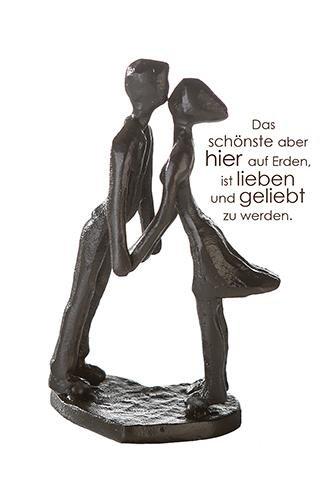 Casablanca Mini Design Skulptur Heartbeat Gußeisen 10 cm Figur Liebe Kuss Paar