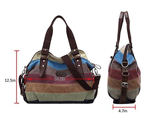 Imagen de bolsos de mujer, coofit bolso bandolera bolso lona bolso tote bolso shopper alternativa