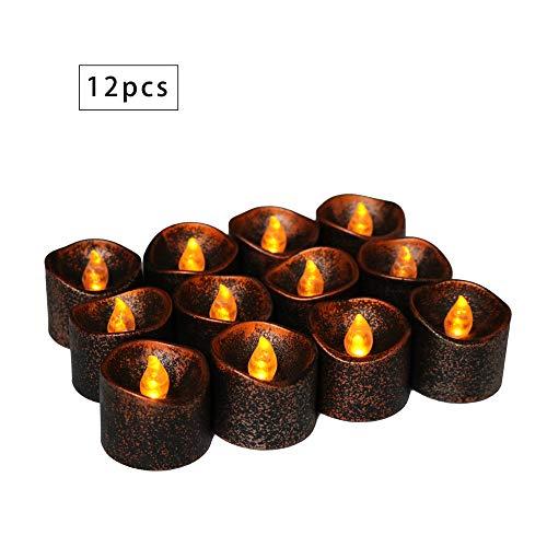 wsjwj Nachtlichter & Schlummerleuchten Geführte Kerze Halloween Kürbis Dekoration schwarz Kerze Licht 12 Pack LED elektronische Kerze