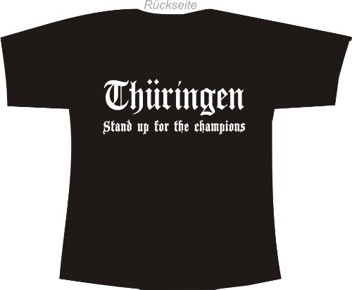 Thüringen - Stand up for the champions; Polo T-Shirt schwarz
