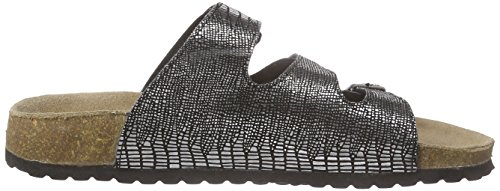 Softwaves 274 372, Mules femme Argent - Silber (Black 009)