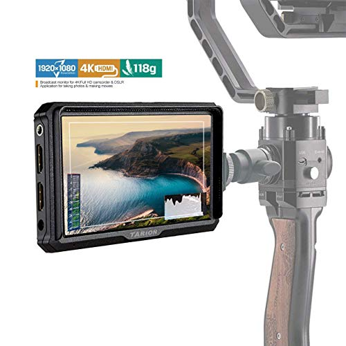 "TARION X5 4K Video Monitor Full HD Kamera Monitor 5"" 1920x1080 IPS Screen HDMI IN/Out für DSLR Kompakt Kamera und Smartphone Schwebestativ"