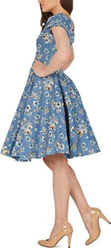 BlackButterfly 'Serena' Vintage Eden Kleid im 50er-Jahre-Stil (Denim, EUR 50 – 4XL) - 2
