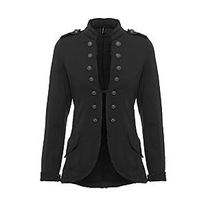 YSU Damen Blazer Damenjacke Military Knöpfe S-XXXL 4XL 5XL Urban Streetwear ideal auch für Karneval Karnevalskostüm