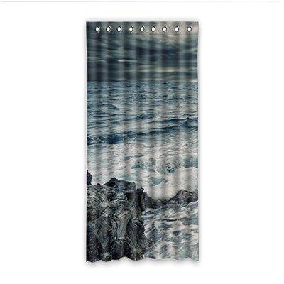 """Dalliy onde del mare Le Tende Tenda Della Finestra Poliestere window Curtain 52 """"x108"""" about 132cm x 275cm(Un pezzo)"""