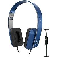 Langston ® Motorola Moto E3 Blue Deep Bass Foldable HD Headphones (iM-8) with Microphone and Remote