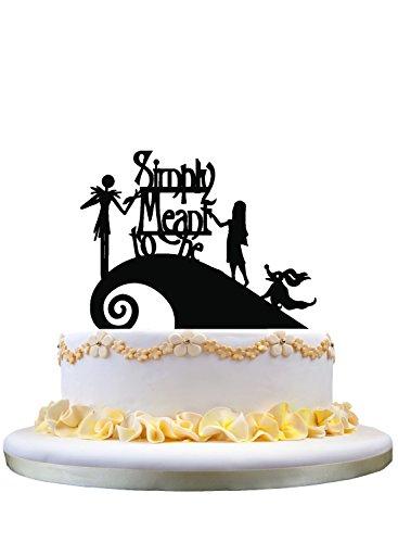 Preisvergleich Produktbild Jack and Sally Simply Meant To Be Wedding Cake Topper,Jack and Sally cake topper