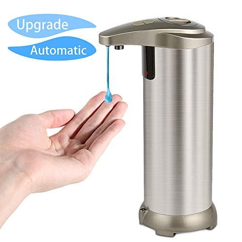 Bigear Automatischer Seifenspender Sensor Seifenspender Edelstahl Badezimmer Spender Hohe Qualität Sensor 280ml mit Wasserdichter Basis, Infrarot Seifenspender