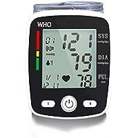Blood pressure meter LL-La muñeca del monitor de presión arterial detecta con precisión la presión arterial Frecuencia cardíaca y latidos irregulares, pantalla LCD grande, esfigmomanómetro de voz