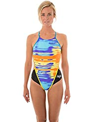 MP – Michael Phelps Damen Badeanzug Fells, schwarz/blau, 71 cm, damen, Fells