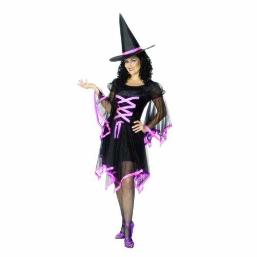 Glamouröses Hexen-Kostüm Halloween für Damen - (Glamouröse Hexe Kostüme)